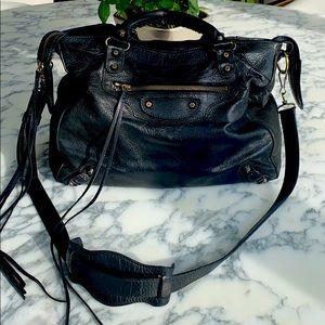 Balenciaga Classic Leather City Bag in Black
